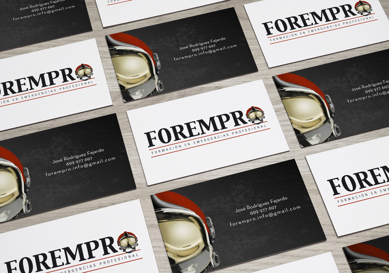 Forempro Business Cards MockUp
